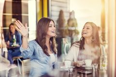 Two beautiful women Royalty Free Stock Images