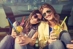 Two beautiful women Stock Photography