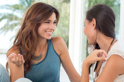 Two Beautiful Women Talking Royalty Free Stock Photos