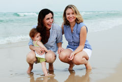 Two Beautiful Women With Baby Royalty Free Stock Photos
