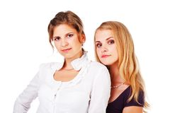Two beautiful young girl Royalty Free Stock Photos