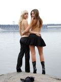 Two beautiful young girls 6 Stock Images