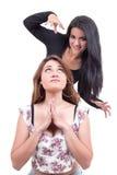 Two beautiful young girls posing Stock Photography