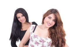 Two beautiful young girls posing Royalty Free Stock Images