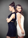 Two Beautiful Young Girls. In a  Studio Royalty Free Stock Photo