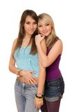 Two beautiful young ladies Stock Images
