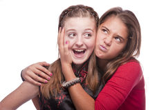 Two beautiful young teenage girls Stock Photo
