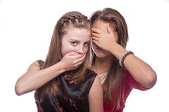 Two beautiful young teenage girls Royalty Free Stock Images
