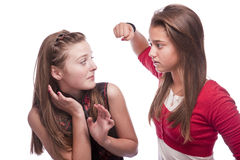 Two beautiful young teenage girls Royalty Free Stock Photos