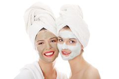 Two beautiful young woman on SPA. Stock Images