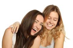 Two beautiful young women Stock Image
