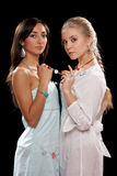 Two beautiful young women Stock Photos