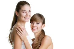 Two beautiful young women Stock Image