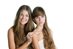 Two beautiful young women Stock Images