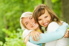 Two beautiful young women Royalty Free Stock Images