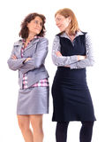 Two beauty business women together. Siolated Stock Image
