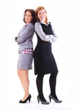 Two beauty business women together. Siolated Stock Photo