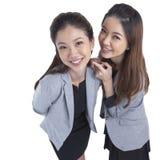 Two beauty businesswomen Stock Photo
