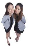 Two beauty businesswomen Royalty Free Stock Photo