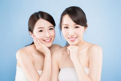 Two beauty woman Royalty Free Stock Image