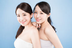 Two beauty woman Stock Photos