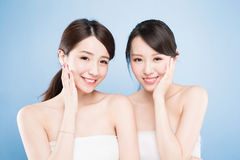 Two beauty woman Royalty Free Stock Photo