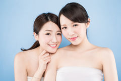 Two beauty woman Stock Photo