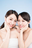 Two beauty woman Stock Photography