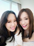 Two beauty woman selfie Royalty Free Stock Images