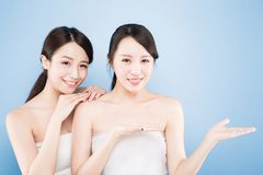Two beauty woman Stock Image