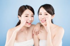 Two beauty woman Stock Images