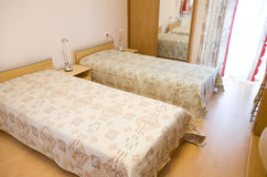 Two beds Royalty Free Stock Image