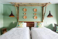 Two beds Stock Photo