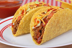 Two Beef Tacos Royalty Free Stock Images