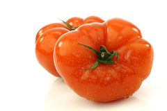 Two Beef Tomatoes Royalty Free Stock Photos