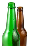 Two beer bottle isolated Royalty Free Stock Image