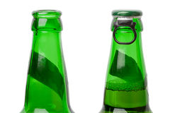Two beer bottles Stock Photos