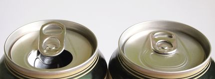 Two beer can Stock Photography