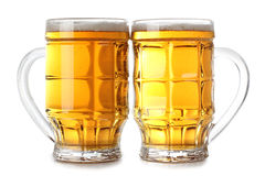 Two beer cups Royalty Free Stock Photo