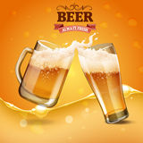 Two beer glass Royalty Free Stock Images