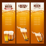 Two beer glass list Stock Photos