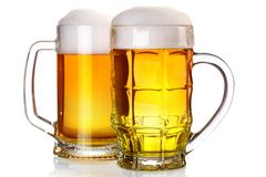 Two beer glasses Royalty Free Stock Photography