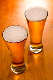 Two beer glasses Stock Photography