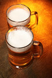 Two beer mugs Royalty Free Stock Images