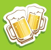 Two beer mugs Royalty Free Stock Image