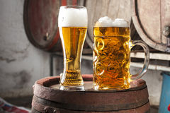 Two Beers Royalty Free Stock Photography