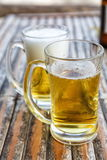 Two beers in glasses Royalty Free Stock Images