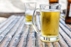 Two beers in glasses Royalty Free Stock Photo