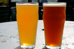 Two beers in Vermont Stock Images