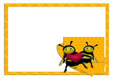 Two bees Royalty Free Stock Photos